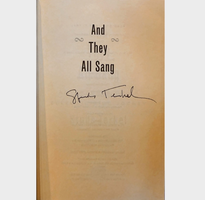 And They All Sang Signed by Studs Terkel