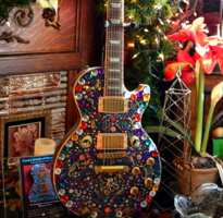 Crown Jewel Guitar by Artist Nina Miller