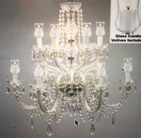 Crystal chandalier with candle votives