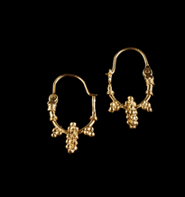 Earrings Grozdic Kulak gold plated