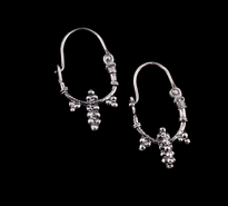 Earrings Grozdic Kulak silver