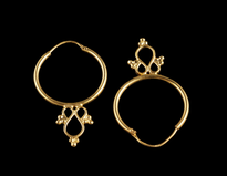 Earrings Halkice gold plated