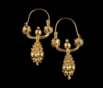 Earrings Pune Trube Male gold plated