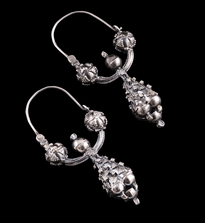Earrings Pune Trube Male silver