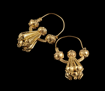 Earrings Pune Trube Velike gold plated