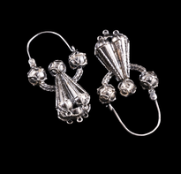 Earrings Pune Trube Velike silver