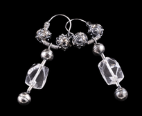 Earrings Visece Gorski Kristal silver