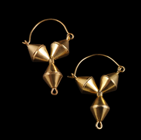 Earrings Y gold plated
