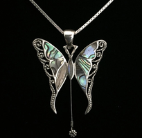 Gregg Allman String Butterfly Necklace