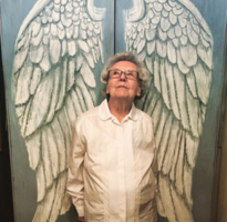 Hand Painted Angel Armoire