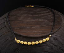 Necklace 9 Kugli gold plated