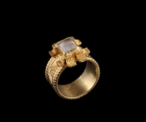Ring Pravougaoni Gorski kristal gold plated