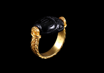 Ring Skarabej gold plated