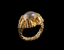 Ring Tvrtko Gorski Kristal gold plated