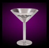 Steel Martini Glass