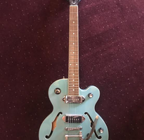 Teal Jazz Epiphone Chrome Pick Ups smooth whammy