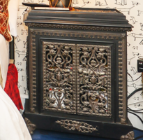 Wrought Iron Oven Night Stand